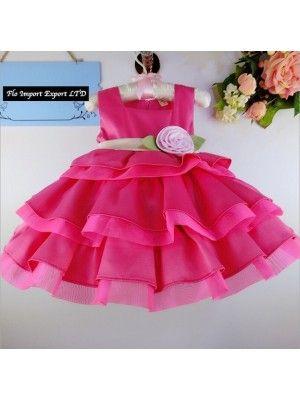 Vestito Bambina Estate Principessa Rosa DG0024