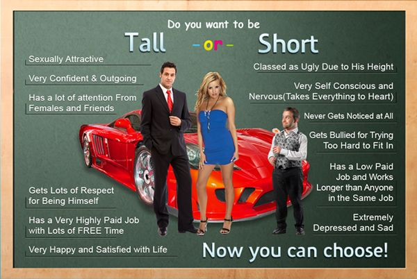 "Do You want to be TALL or SHORT ""How To Grow More Tall in Just 90 Days"""
