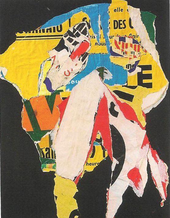 Asger Jorn. Decollage. 1964 (Neo-Dada)