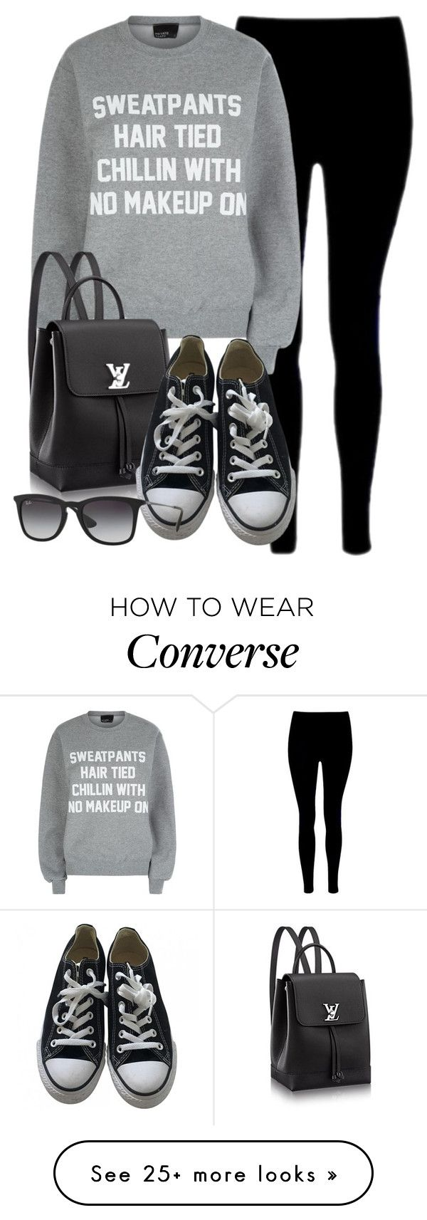 """""""Style #10309"""" by vany-alvarado on Polyvore featuring Private Party, Converse and Ray-Ban"""
