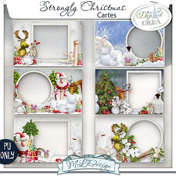 Christmas Cartes / Christmas Cards   http://digital-crea.fr/shop/index.php?main_page=index&cPath=155_267