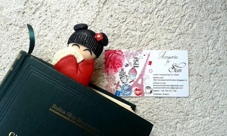 http://accessoriesforstars.blogspot.ro/2015/03/semn-carte-little-red-chinese.html #polymer #bookmarks #original #accessoriesforstars #books #bookmark #night #red #light #chinese