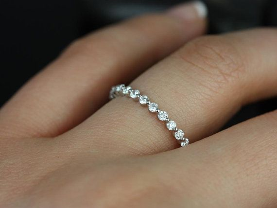 Petite Bubble & Breathe 14kt White Gold Diamonds by RosadosBox