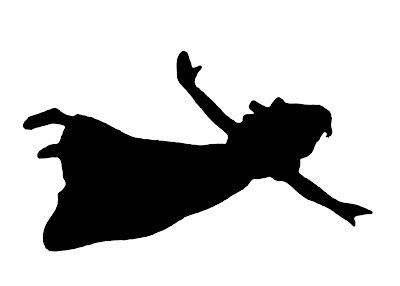peterpan and wendy flying vinyl peter pans wendy flying silhouette cameo