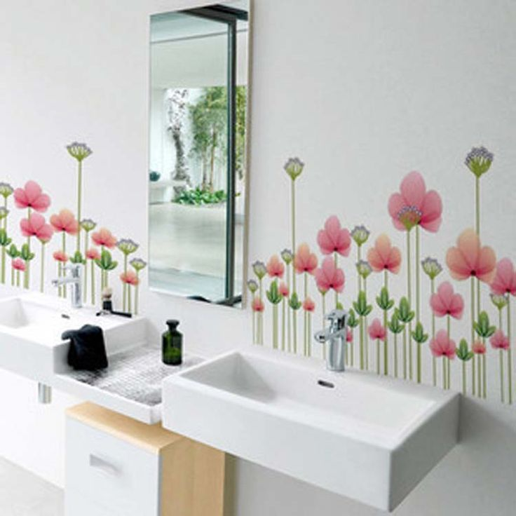 Flower Wall Decals In Realizing An Elegance Room | Www .