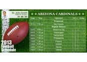 3x6 in One Team Arizona Cardinals Football Schedule