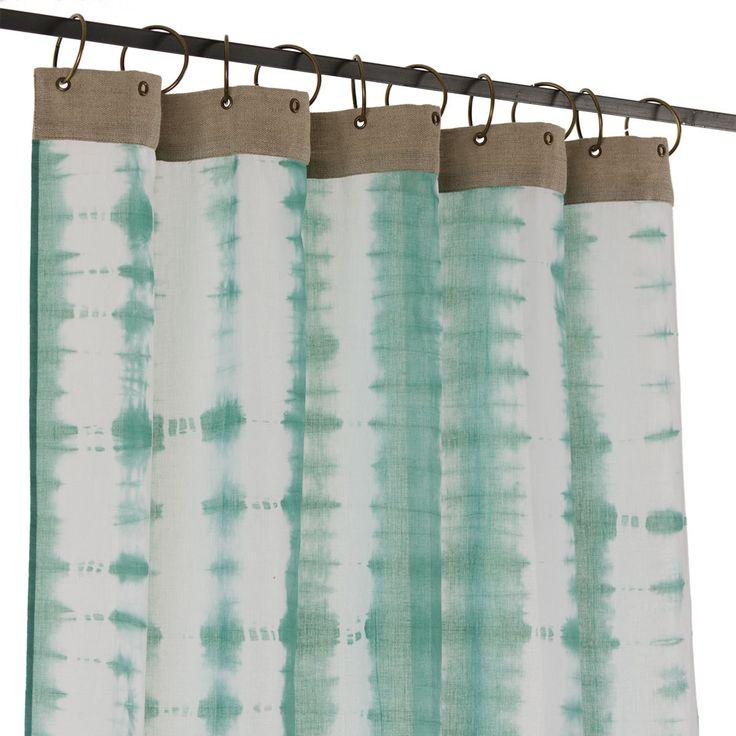 Rideau Rideau Tie & Dye Voile de Coton 110 x 280 cm Lagon Rideau Tie & Dye Voile de Coton 110 x 280 cm Lagon