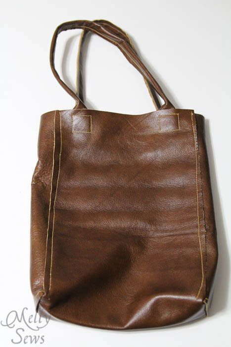 DIY: leather tote tutorial