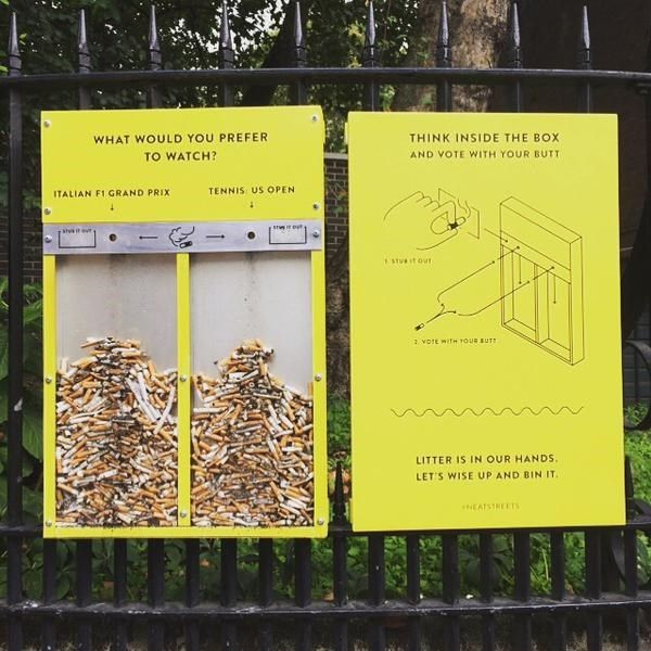http://designtaxi.com/news/379896/Creative-Installations-And-Ads-That-Aim-To-Stop-Littering-In-London/