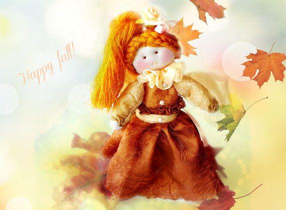 Fairy doll fall fairy rag doll ragdoll by Fairybugcreativetoys