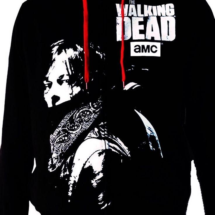 Walking Dead Hoodie Jacket Daryl Dixon Large  #AMCTheWalkingDead #Hoodie