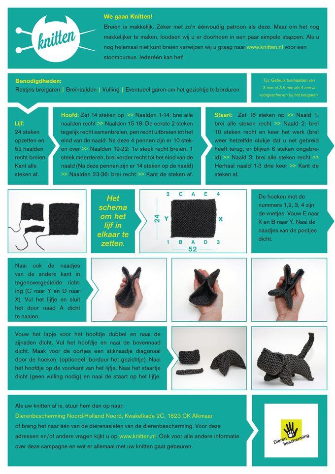 Knit a Knitten voor de Dierenbescherming.