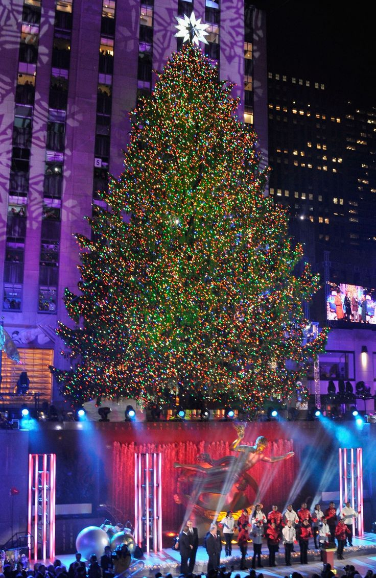 The world's best Christmas trees; New York City, USA-2013's display at the Rockefeller Center.