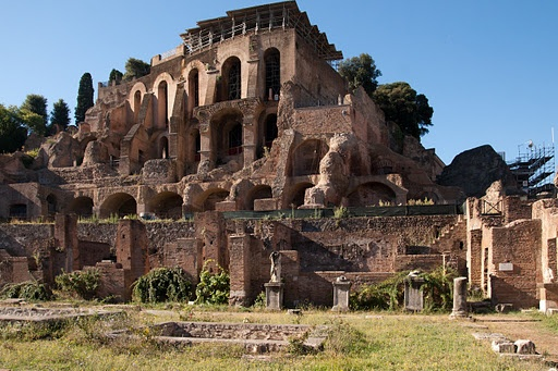 The Roman Forum and the Palace of Tiberius, Palatine Hill.