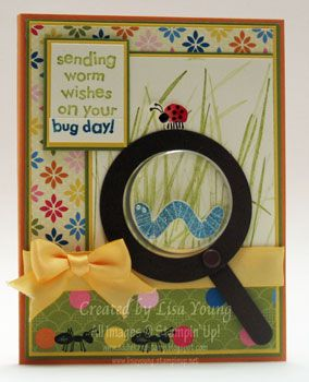 sending you worm wishes - sweet treat cup as magnifying glass - bjl