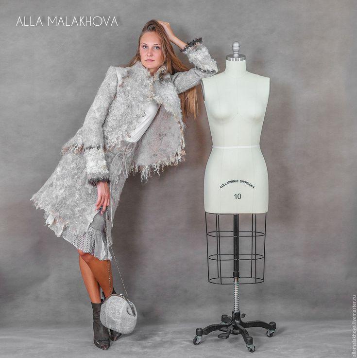 Купить Валяная юбка Люблю Зиму ! - серый, валяная юбка, юбка с запАхом