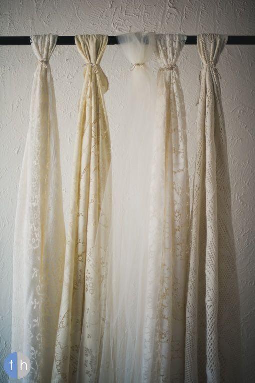 Lace Amp Tulle Altar Backdrop Wedding Ideas Pinterest