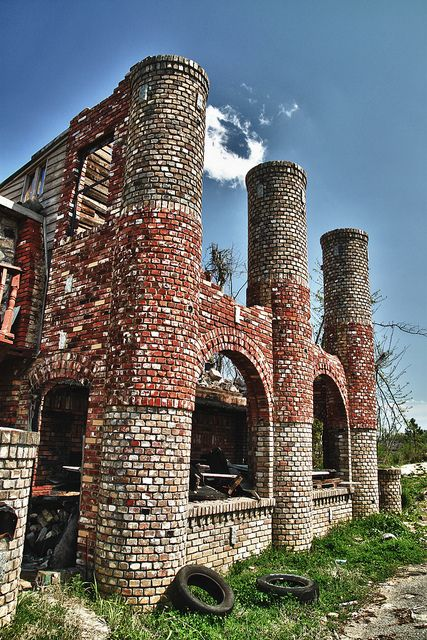 The Ice Cream Castle in Forestdale, Alabama. This was a beautiful place before being hit with first a fire, then a tornado.