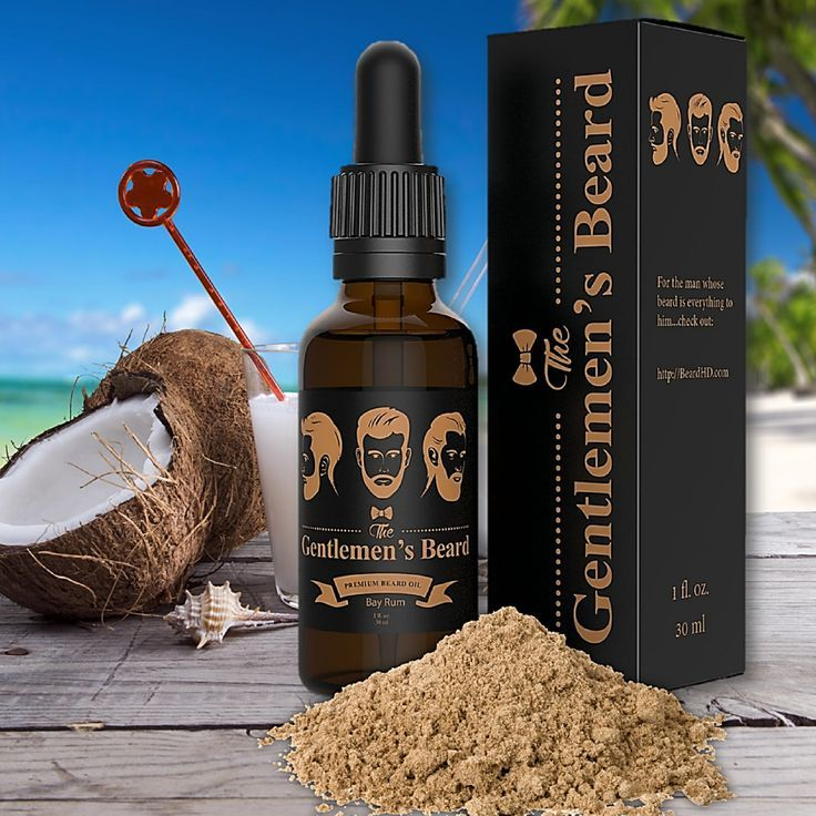 Bay Rum Beard Oil by The Gentlemen's Beard. Premium Conditioner & Softener. Natural, Organic Fortified With Argan, Jojoba Evening Primrose Vitamin E, Sunflower Seed & Extra Virgin Organic Coconut Oil!
