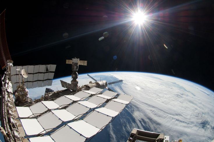 The Brightness of the Sun  The bright sun, a portion of the International Space Station and Earth's horizon are featured in this image photographed during the STS-134 mission's fourth spacewalk in May 2011. The image was taken using a fish-eye lens attached to an electronic still camera. Image Credit: NASA: Spaces, Nasa, Space Station, Bright Sun, Camera, Image Photographed, Earth S Horizon, Fourth Spacewalk