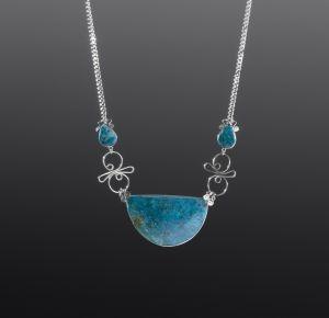 Chrysocolla Silver Necklace by Coco Paniora Salinas