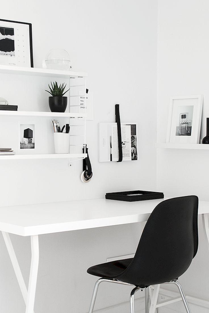 Black White Office Modern Office House Interior Home Office Decor Minimalism Interior