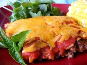 Unstuffed Pepper Bake...this is awesome! A definite keeper! I made with white rice because my hubby won't eat brown. I'll never make real stuffed peppers again!