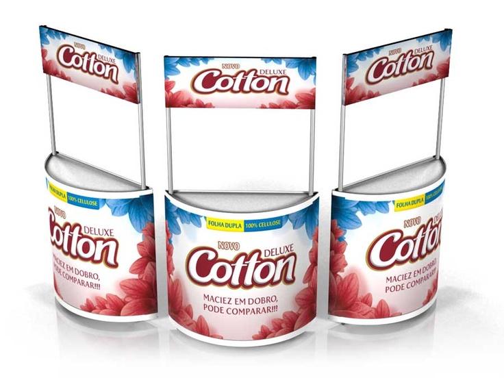 Balcão expositor Cotton Deluxe – Carta Fabril – São Gonçalo – RJ   Desenvolvimento de Sites, Design Gráfico, Sinalização, Publicidade e Comunicação - Niterói - RJ