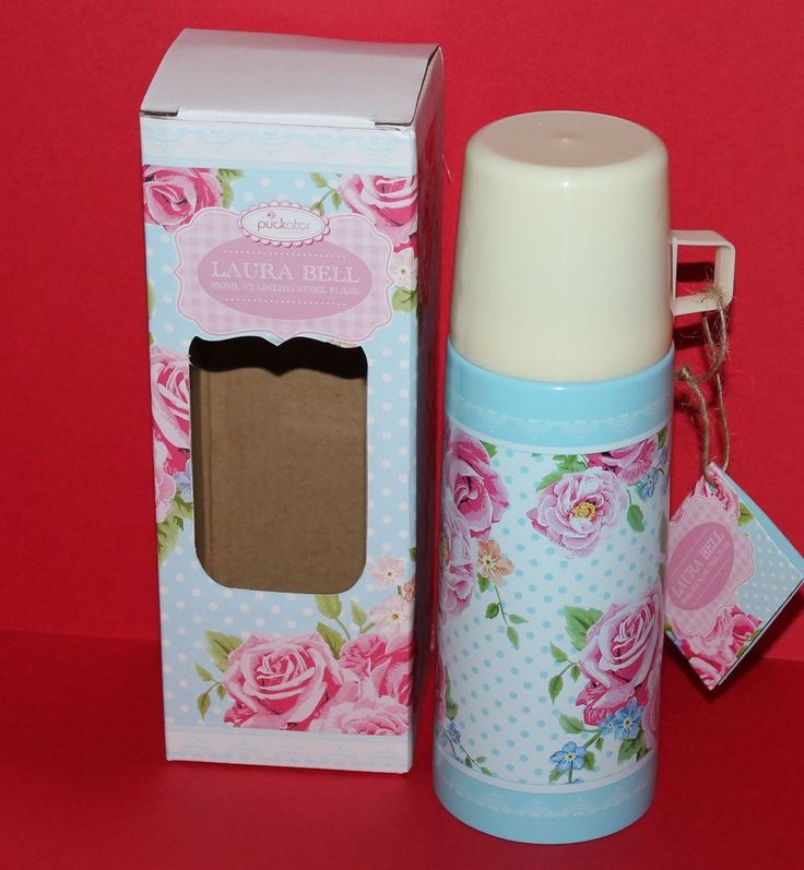 Laura Bell Stainless Steel Chintz Flask 350ml