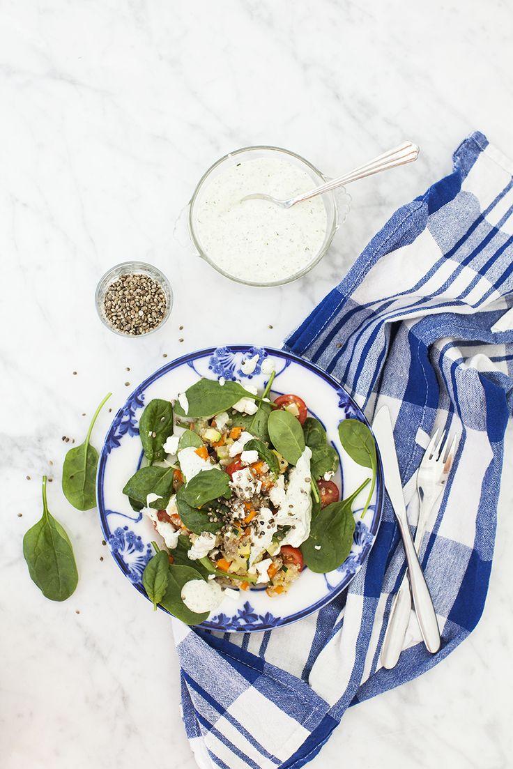 Varm lunchsallad med quinoa & fetaost: http://martha.fi/sv/radgivning/recept/view-93381-6065