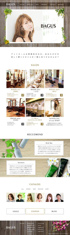 karen26さんの提案 - 都内に5店舗経営の美容院|TOPページデザイン作成の依頼 ※コーディング無し | クラウドソーシング「ランサーズ」