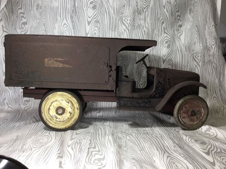 Vintage Pre War 1920s  BUDDY L Express Line Delivery Truck~ Pressed Steel ~RARE!