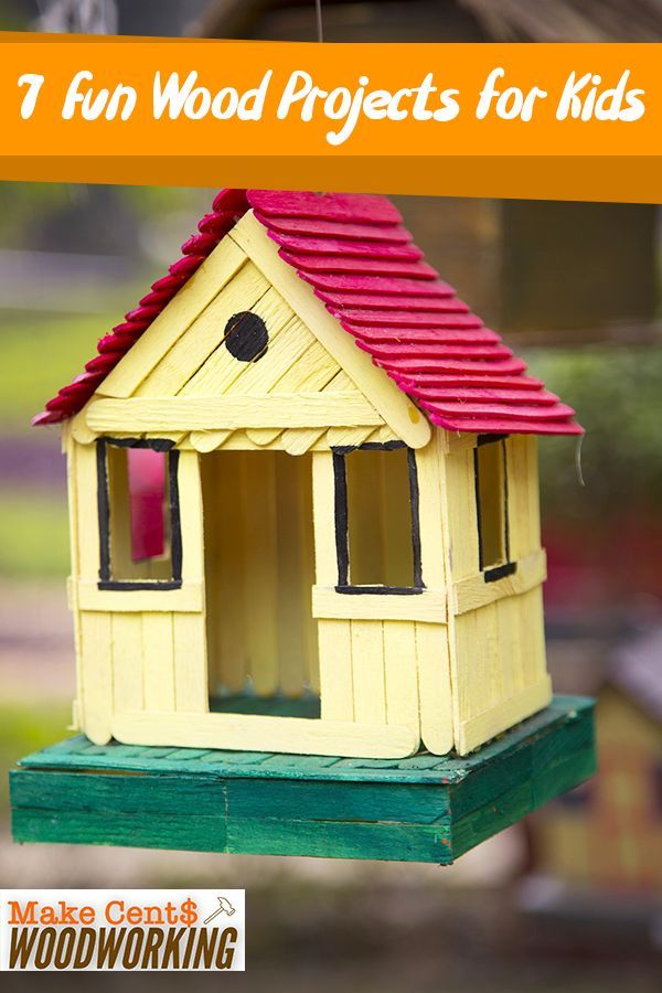 Finance 7 wood projects for children. Here are some great woodworking ideas for kids: #WoodWorking