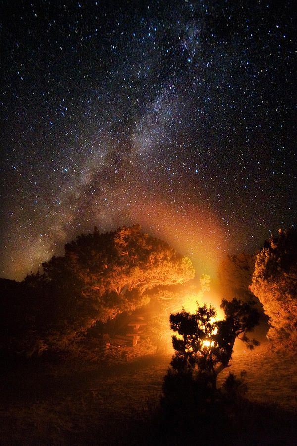 The Heart Of The Fire - Photograph by Lon Lovett Milky Way over Sierra Nevada Mountains What a wonderful place we call home