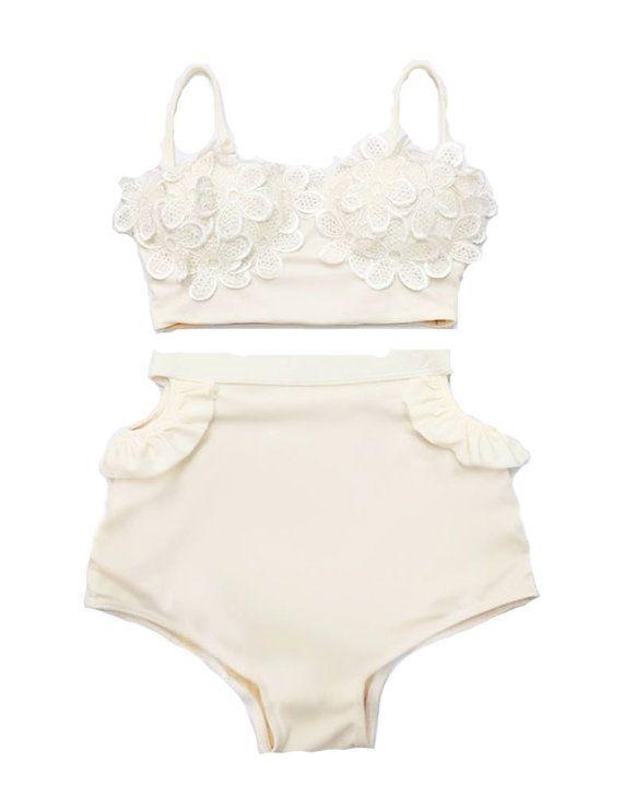 Creme Spitze Daisy Sakura Bikini