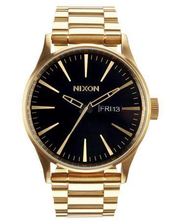 Nixon SENTRY SS Uhr in Schwarz-Gold