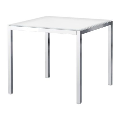 Torsby table chrome plated glass white dining tables kitchen tables and the black - Glass dining table ikea ...