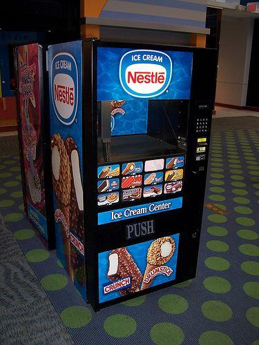 vending machines ice cream   Nestle Ice Cream Vending Machine