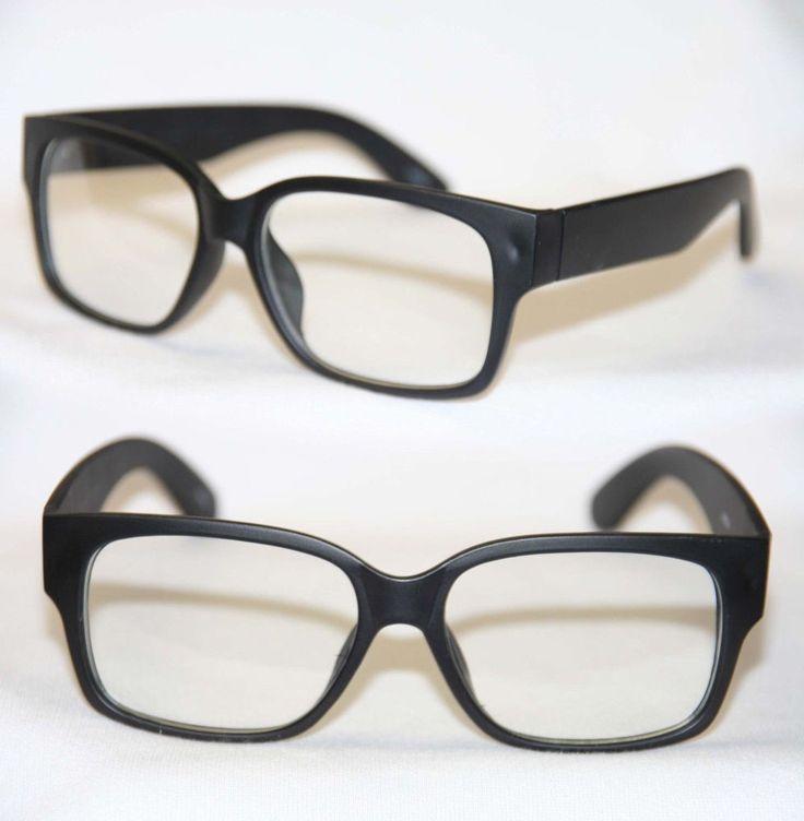 Super Hippe Nerd Brille Flat Style Retro Hornbrille Damen u. Herren 382
