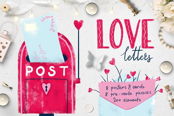 love letters :: posters & cards by Ulia Choo on @creativemarket