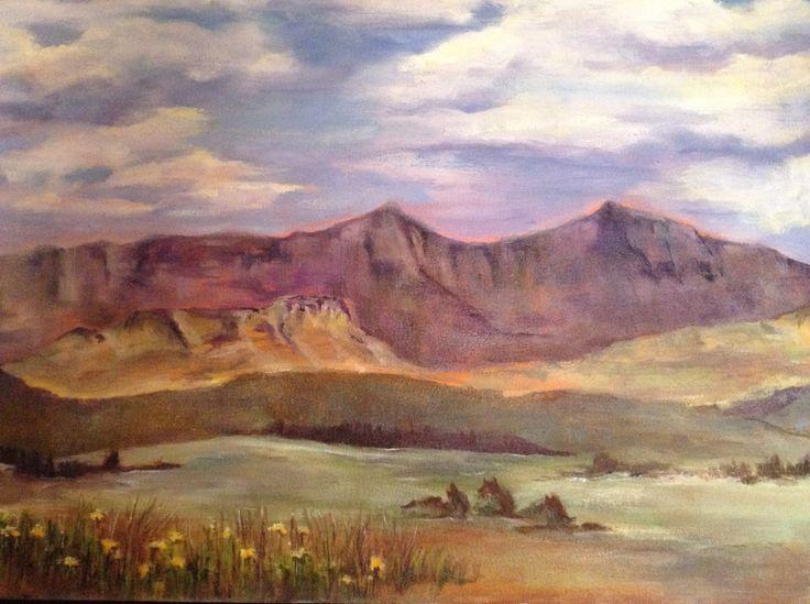 Hodgsons Peaks, Underberg Oil on canvas 70x40