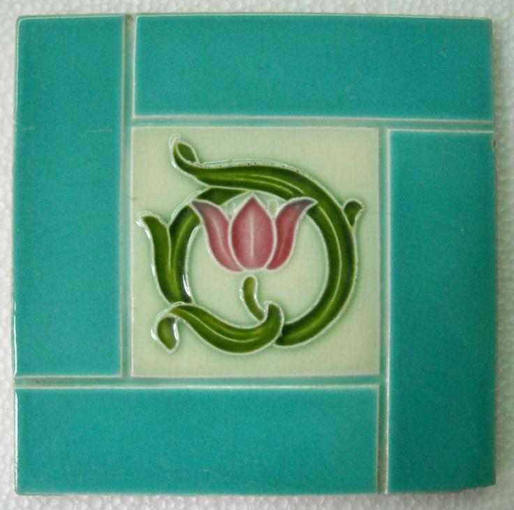 Alfred Meakin Antique Nouveau Majolica Ceramic Tile