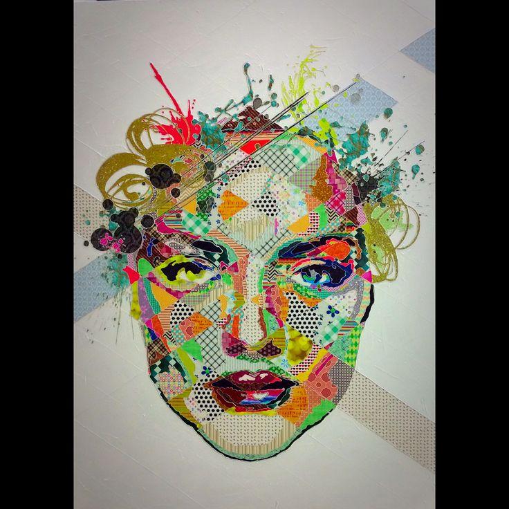 "Pınar Du Pre ""Lucretia Borgia""180x130cm/mixed media on canvas/2014"