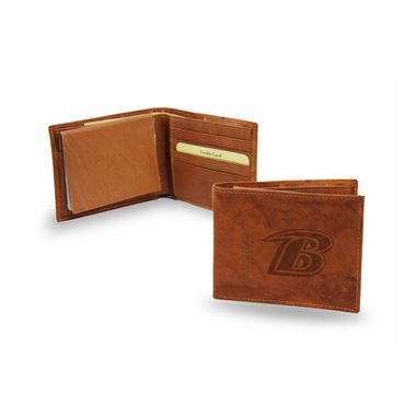Baltimore Ravens Official NFL Leather Billfold Wallet Ravens by Rico Industries
