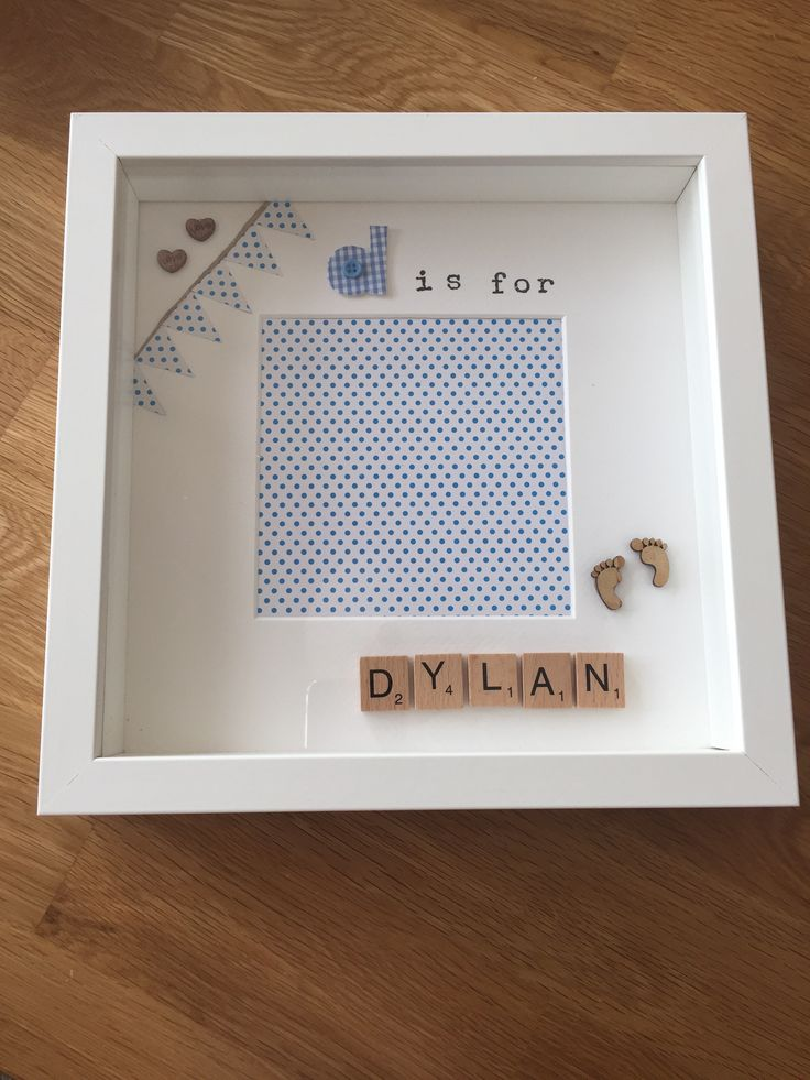 D is for Dylan... Personalised memory frame / hand made / scrabble letters - £15.00 plus P&P