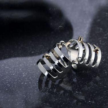 Серебряное кольцо на фаланги пальцев