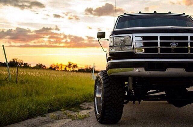 I love this picture!!! Only thing he needs is a brush guard and smaller wheels, the tires are good though.