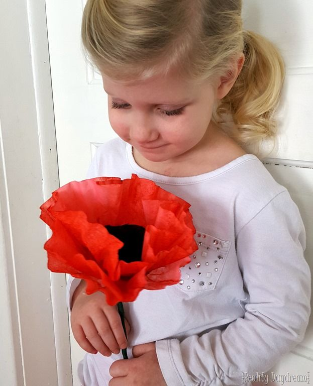 Make gorgeous poppies using coffee filters and food coloring! SUPER simple! {Reality Daydream}