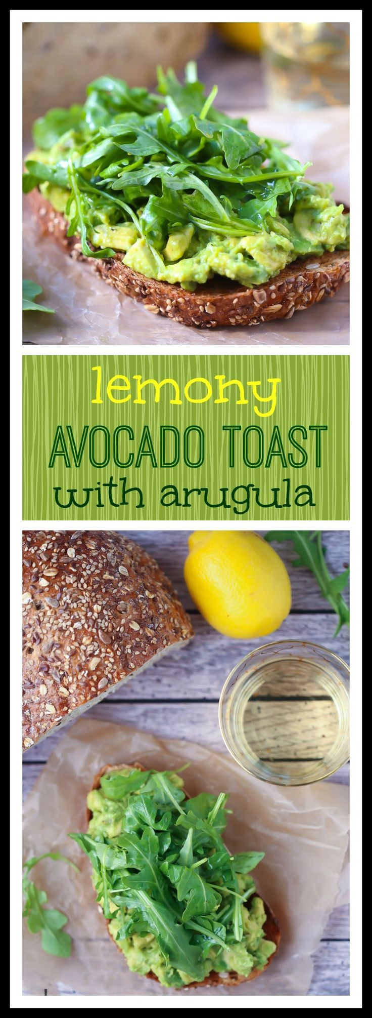 Lemony Avocado Toast with Arugula