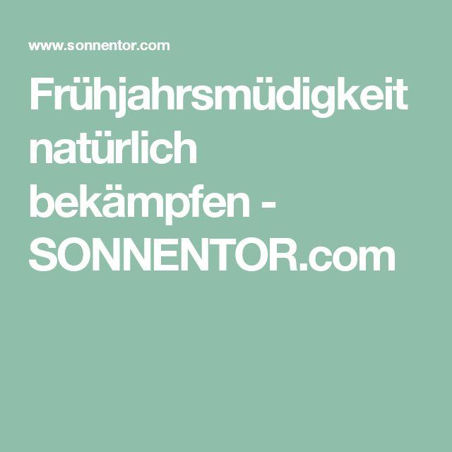 Frühjahrsmüdigkeit natürlich bekämpfen - SONNENTOR.com